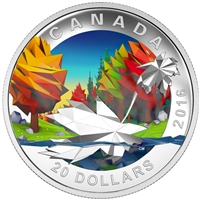 2016 Canada $20 Geometry in Art - The Maple Leaf Fine Silver (No Tax)