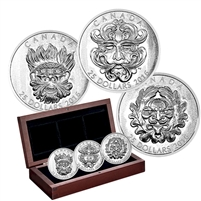 2016 Canada $25 Sculptural Art of Parliament 3-Coin Silver Set (No Tax)