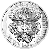 2016 Canada $25 Sculptural - Grotesque Foliated Green Man (TAX Exempt)
