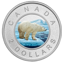RDC 2016 Canada 2-Dollar Coloured Big Coin Fine Silver (No Tax) Impaired