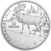 RDC 2017 Canada $20 Nature's Impressions - Woodland Caribou (No Tax) Capsule Cracked