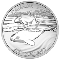 2016 Canada $100 Orca ($100 for $100) Fine Silver (TAX Exempt)