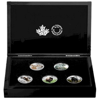 RDC 2016 Canada $20 Majestic Animals 5-coin Set with deluxe case (No Tax) Impaired