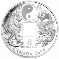 2016 Canada $8 Tiger and Dragon Yin Yang Fine Silver (No Tax)