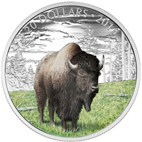 RDC 2016 Canada $20 Majestic Animals - The Benevolent Bison (No Tax) Toned