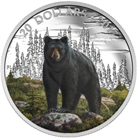 2017 Canada $20 Majestic Animals - The Bold Black Bear Fine Silver (No Tax)