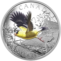 2016 Canada $20 Migratory Birds - The American Goldfinch Fine Silver (No Tax)