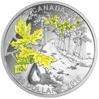 2016 Canada $20 Bigleaf Maple - Jewel of the Rain Fine Silver (No Tax)