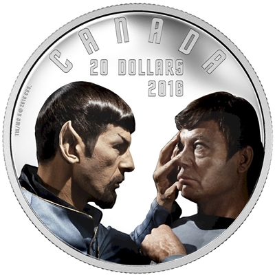 2016 Canada $20 Star Trek - Mirror, Mirror Fine Slver (No Tax)