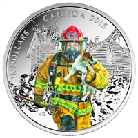 2016 Canada $15 National Heroes - Firefighters Fine Silver (No Tax)