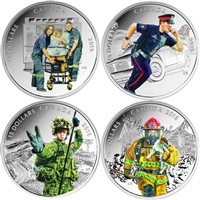 2016 Canada $15 National Heroes 4-coin Set & Deluxe Box (No Tax)