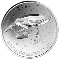 2016 Canada $20 Star Trek Enterprise ($20 for $20 #21) Fine Silver (No Tax)