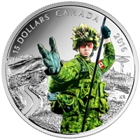 RDC 2016 Canada $15 National Heroes - Military Fine Silver (No Tax) Impaired