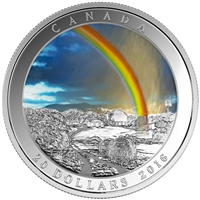 2016 Canada $20 Radiant Rainbow fine silver (No Tax) - Missing Sleeve