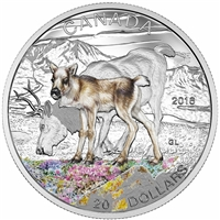 2016 Canada $20 Baby Animals - Caribou Fine Silver (TAX Exempt) 152415