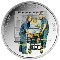 2016 Canada $15 National Heroes - Paramedics Fine Silver (No Tax)