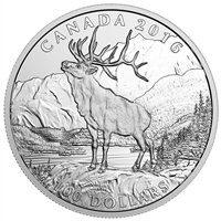 2016 Canada $100 Noble Elk ($100 for $100) Fine Silver (TAX Exempt)