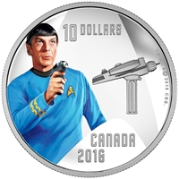 2016 Canada $10 Star Trek - Spock Fine Silver (No Tax)