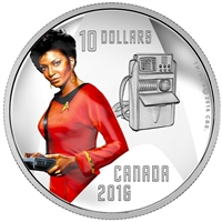 2016 Canada $10 Star Trek - Uhura Fine Silver (No Tax)