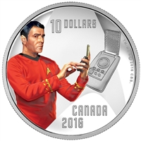 2016 Canada $10 Star Trek - Scotty Fine Siver Coin (No Tax) impaired