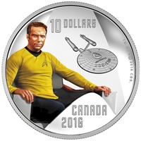 2016 Canada $10 Star Trek Captain Kirk Fine Silver (No Tax) 153321