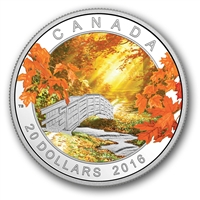 2016 Canada $20 Autumn Tranquility Fine Silver (No Tax)