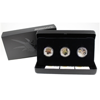 Complete 2016 Canada $10 Day of the Dinosaurs Fine Silver 3-Coin Set (No Tax)