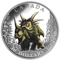 2016 Canada $10 Day of the Dinosaurs - The Spiked Lizard (NO Tax)