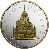 RDC 2016 Canada $1 Library of Parliament Renewed Dollar (No Tax) scratched capsule