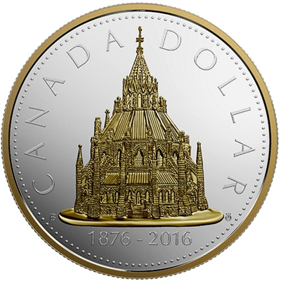 2016 Canada $1 Library of Parliament Renewed Silver Dollar (No Tax)