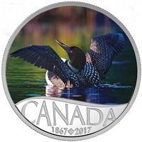 2017 $10 Celebrating Canada's 150th - Common Loon Fine Silver (No Tax)