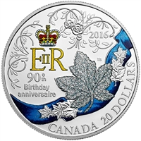 2016 Canada $20 HRH Queen Elizabeth II's 90th Birthday (No Tax) Scuffed