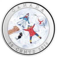 2016 Canada 50-cent Snow Angels Lenticular Coin