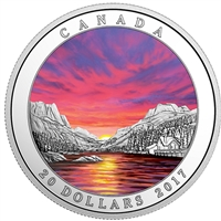 2017 Canada $20 Weather Phenomenon - Fiery Sky Fine Silver (No Tax)