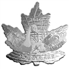 2016 $10 Canada Geese Maple Leaf Shaped Silhouette Fine Silver (No Tax)