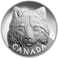 2017 Canada $250 In The Eyes of the Timber Wolf Kilo Silver (No Tax)
