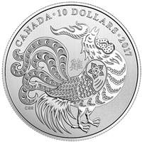 2017 Canada $10 Year of the Rooster Fine Silver (No Tax)
