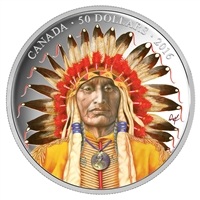 2016 Canada $50 Wanduta Portrait of a Chief 5oz. Fine Silver (No Tax)