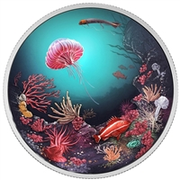 2016 Canada $30 Illuminated Underwater Reef Fine Silver (No Tax)