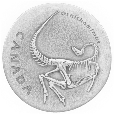 2017 $20 Ancient Canada - Ornithomimus Fine Silver (No Tax)
