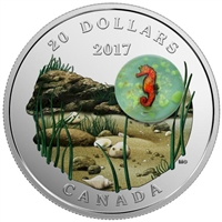 2017 Canada $20 Under the Sea - Seahorse Fine Silver (No Tax)