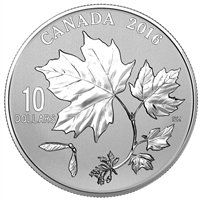 2016 Canada $10 Maple Leaves Fine Silver Coin (TAX Exempt)