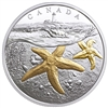 2017 Canada $20 From Sea to Sea - Atlantic Starfish Gold-Plated Silver (No Tax)