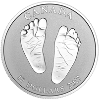 2017 Canada $10 Welcome to the World - Baby Feet Fine Silver (No Tax)