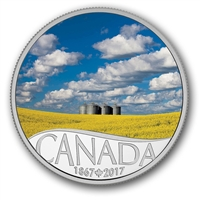 2017 $10 Celebrating Canada's 150th - Canola Field Fine Silver (No Tax)