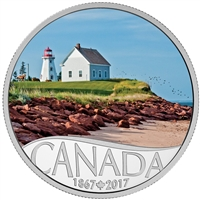 RDC 2017 $10 Celebrating Canada's 150th - Panmure Island Silver (No Tax) worn sleeve