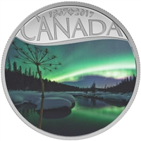 2017 $10 Celebrating Canada's 150th - Aurora Borealis at McIntyre Creek (No Tax)