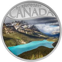 RDC 2017 $10 Celebrating Canada's 150th - Peyto Lake Fine Silver (No Tax) - Toned