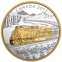 2017 $20 Locomotives Across Canada - GE ES44AC Fine Silver (No Tax)