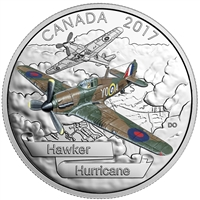 2017 Canada $20 Aircraft of WWII - Hawker Hurricane Silver (No Tax)